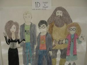Harry Potter-figuureja hiippailee Nahkapäivänä lukiolla.