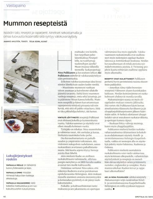 Opettajalehti 33 2013