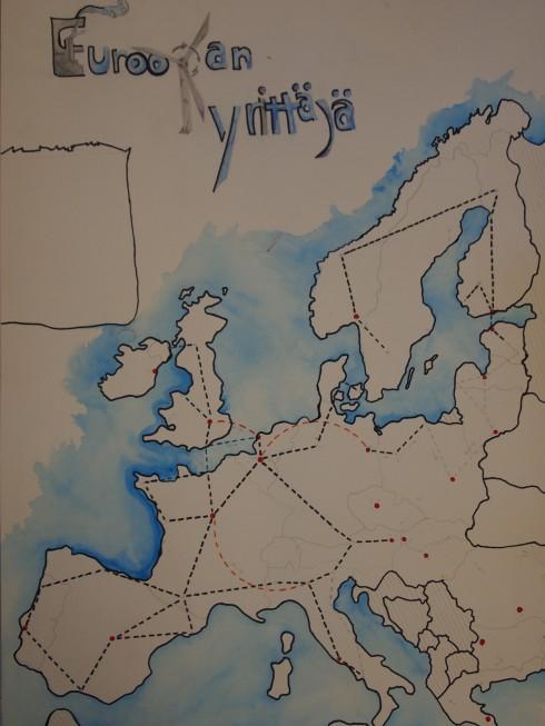 Riikan ja Pasin suunnittelemassa pelissä Eurooppa tulee tutuksi.