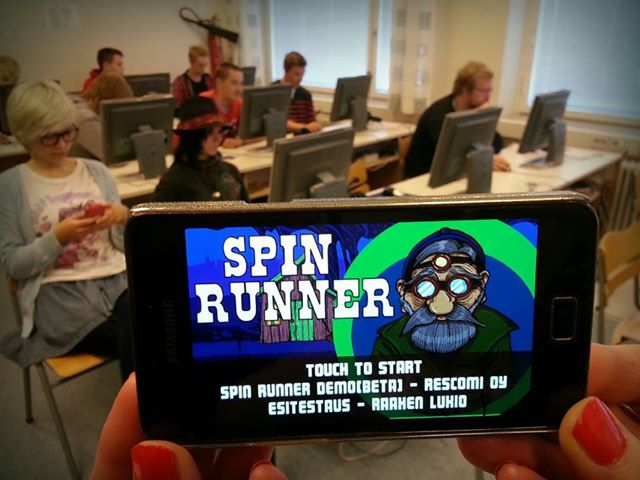 Raahen lukiolaiset ovat tehneet yhteistyötä ResComi yhtiön kanssa Spinrunner-pelin kehittäjäyhteistyössä.
