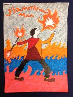 Tulennielijä - FlamethrowerMan. Johannes